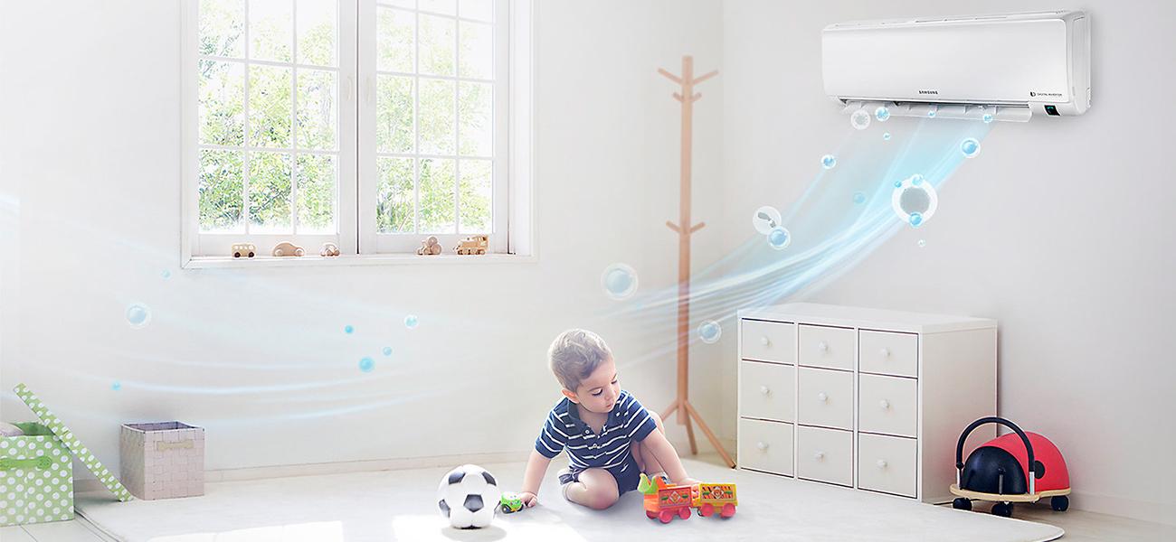 фильтр AR09MSFPAWQNER поддерживает свежесть воздуха и чистоту внутри устройства
